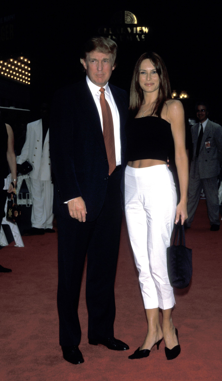 Melania Trump young