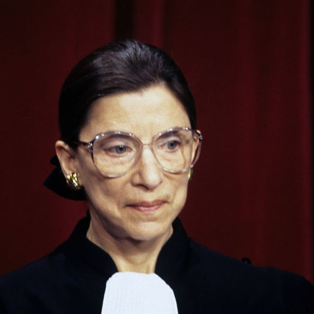 portrait of associate justice of the supreme court ruth bader ginsburg as she poses at the united states supreme court, washington dc, december 3, 1993 photo by ron sachscnpgetty images