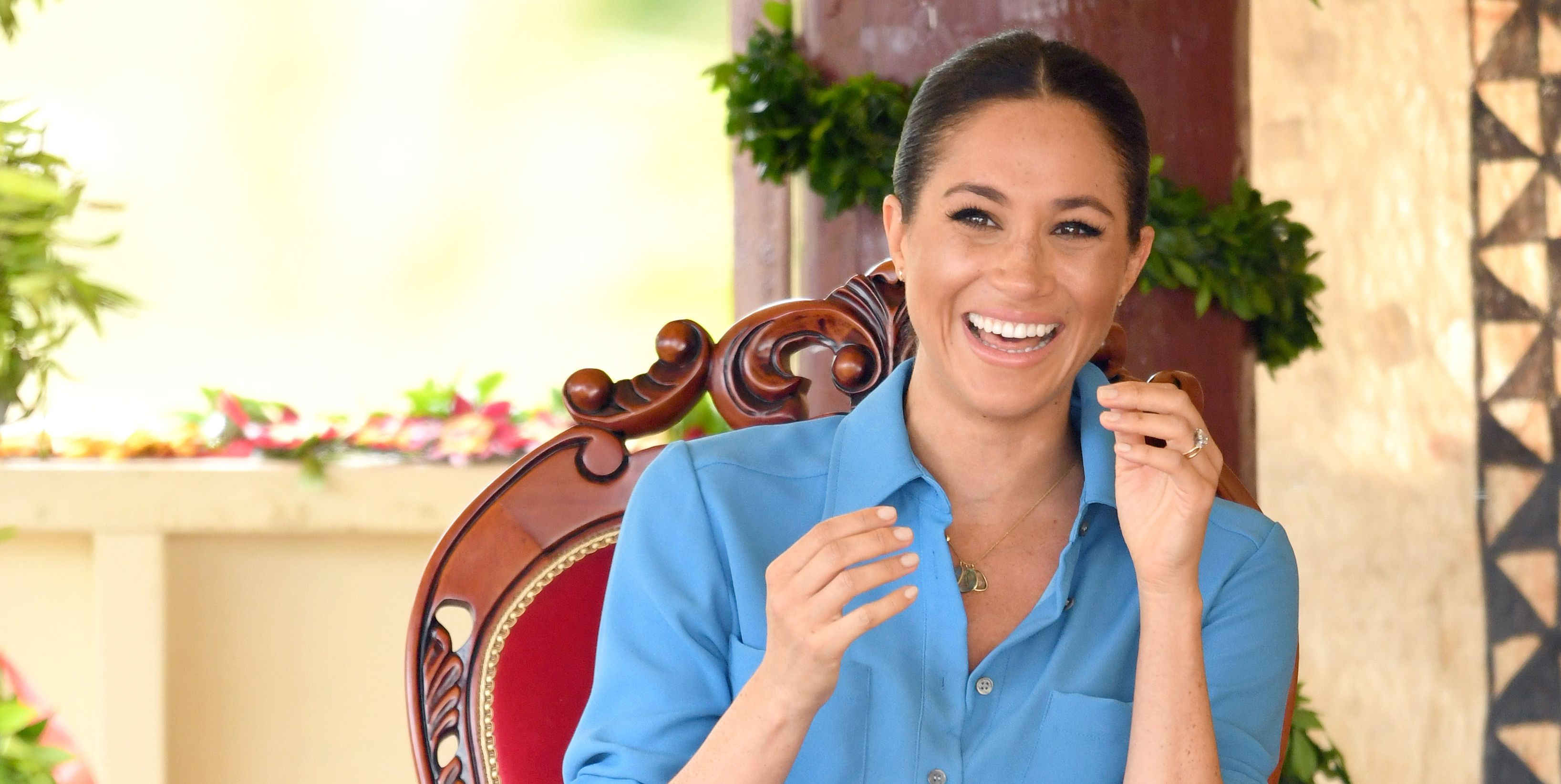 meghan markle duchess of sussex tonga laughing