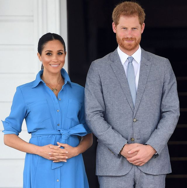 nukualofa, tonga   october 26  uk out for 28 days prince harry, duke of sussex and meghan, duchess of sussex visit king tupou vi and queen nanasipauu tukuaho of tonga on october 26, 2018 in nukualofa, tonga the duke and duchess of sussex are on their official 16 day autumn tour visiting cities in australia, fiji, tonga and new zealand  photo by poolsamir husseinwireimage