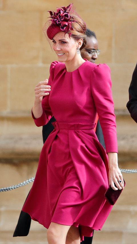 Kate Middleton's Pink Sleeved Shift Dress Is Effortlessly ...
