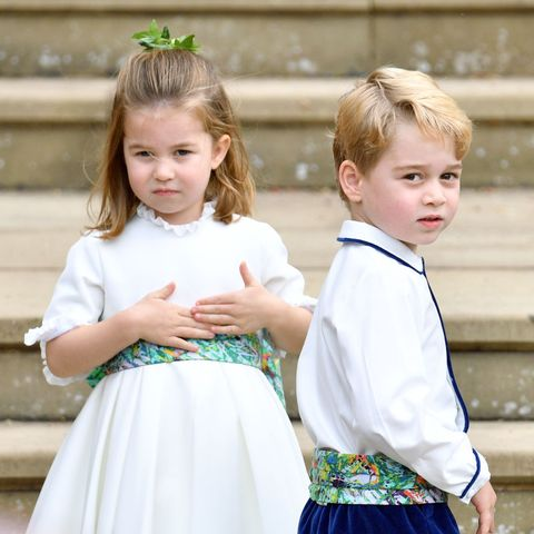 charlotte and george role in trooping the colour