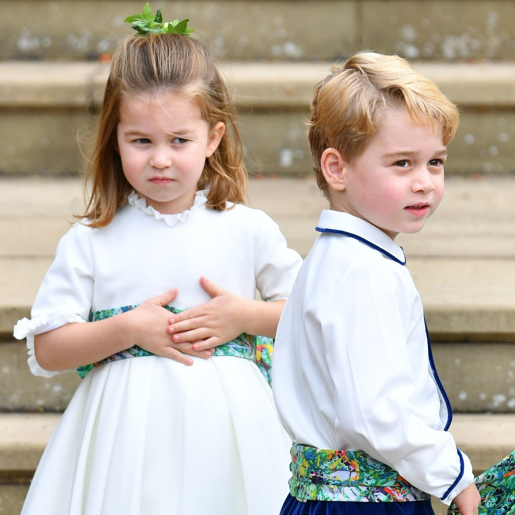 Princess Charlotte Is the Boss of Prince George in This Video of Them Play in Kate Middleton's Garden
