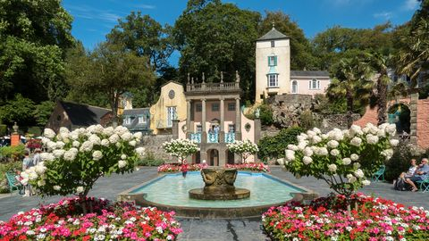 The village of Portmeirion in Wales, United Kingdom