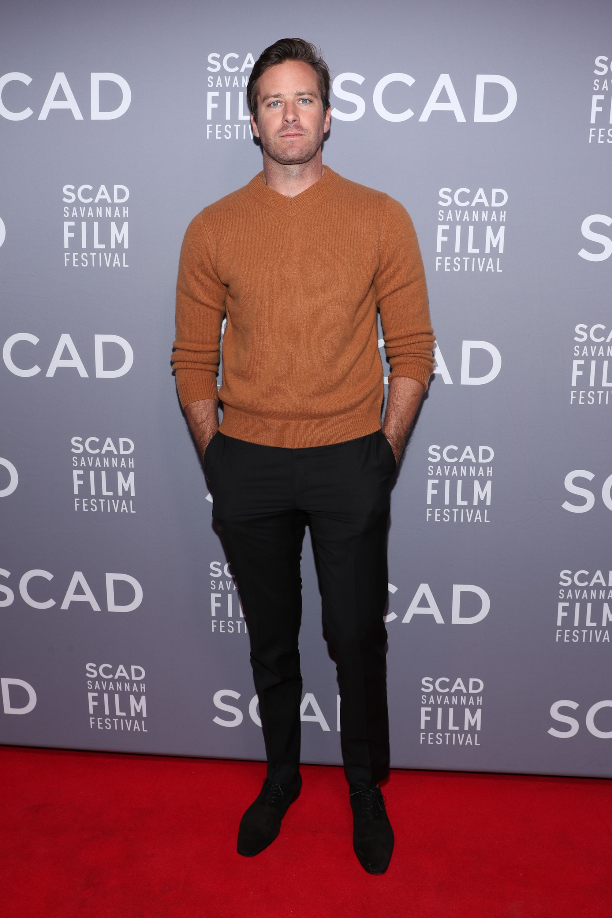 Armie Hammer When in doubt, opt for a great sweater.