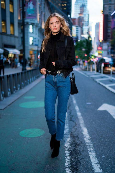 Jeans, Photograph, Denim, Clothing, Street fashion, Blue, Fashion, Snapshot, Standing, Yellow,
