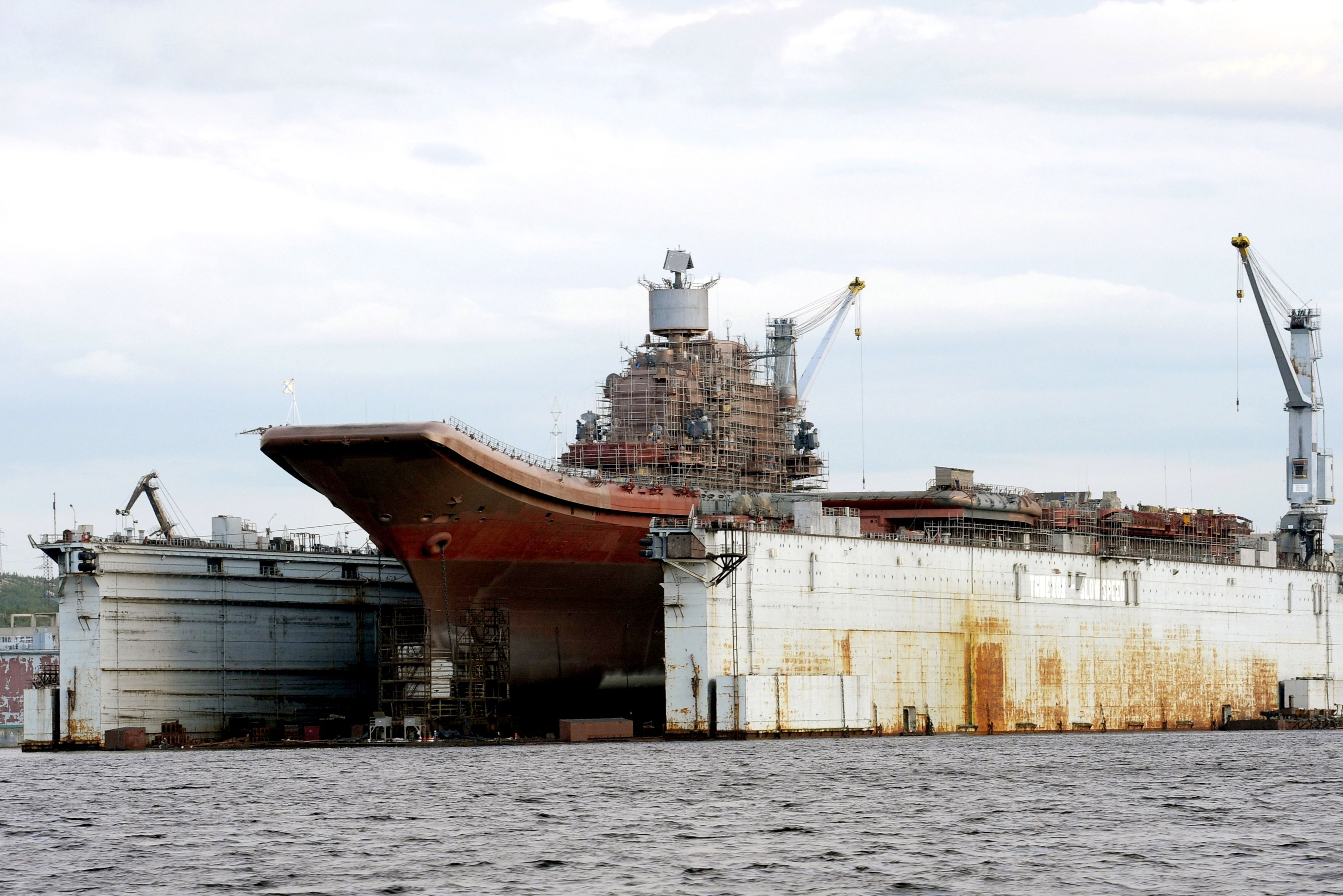 Russia's Hard-Luck Carrier Damaged in Shipyard Accident