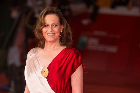 Red Carpet with American actress Sigourney Weaver at the