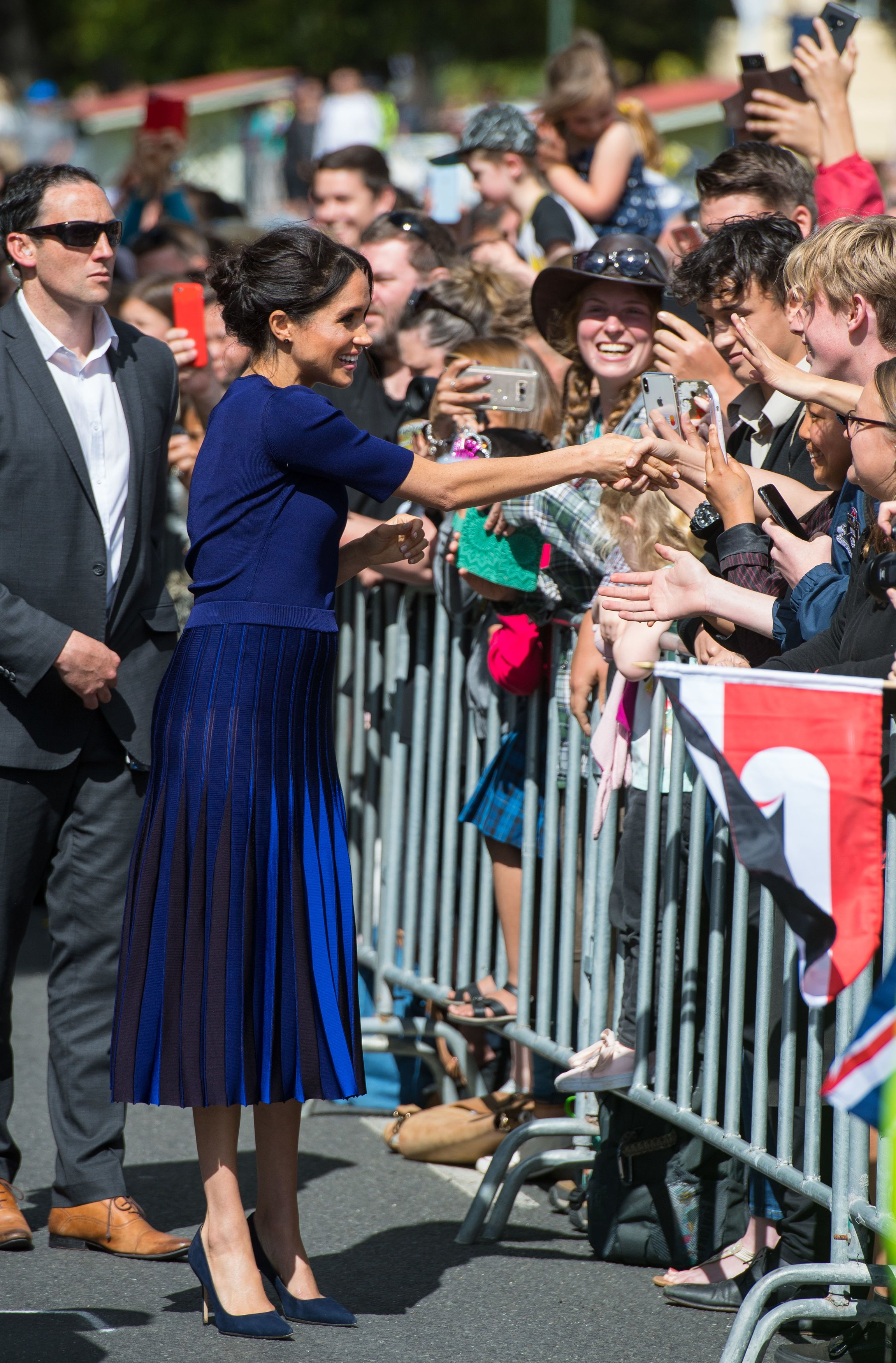 3c89677b63 Meghan Markle Just Wore a Completely See-Through Skirt to Wrap Up Her Tour