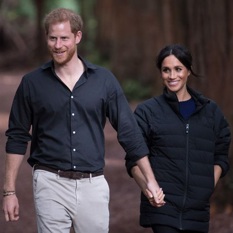 rotorua, new zealand   october 31  uk out for 28 days prince harry, duke of sussex and meghan, duchess of sussex visit redwoods tree walk on october 31, 2018 in rotorua, new zealand the duke and duchess of sussex are on their official 16 day autumn tour visiting cities in australia, fiji, tonga and new zealand  photo by poolsamir husseinwireimage