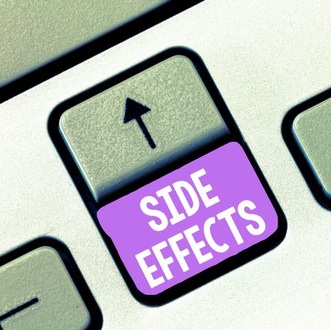 Handwriting text Side Effects. Concept meaning An unintended negative reaction to a medicine and treatment