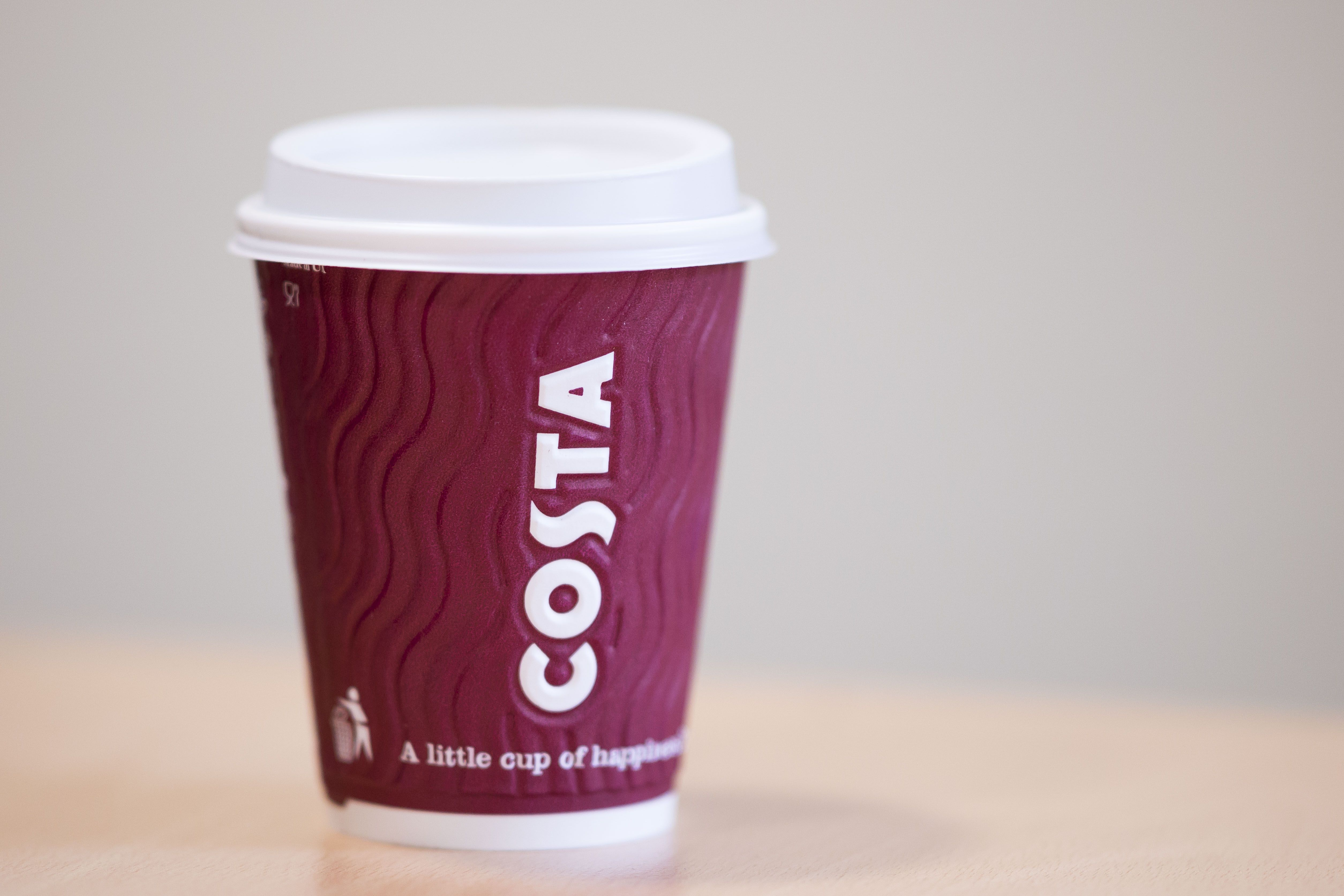 Costa coffee and reusable mugs for home