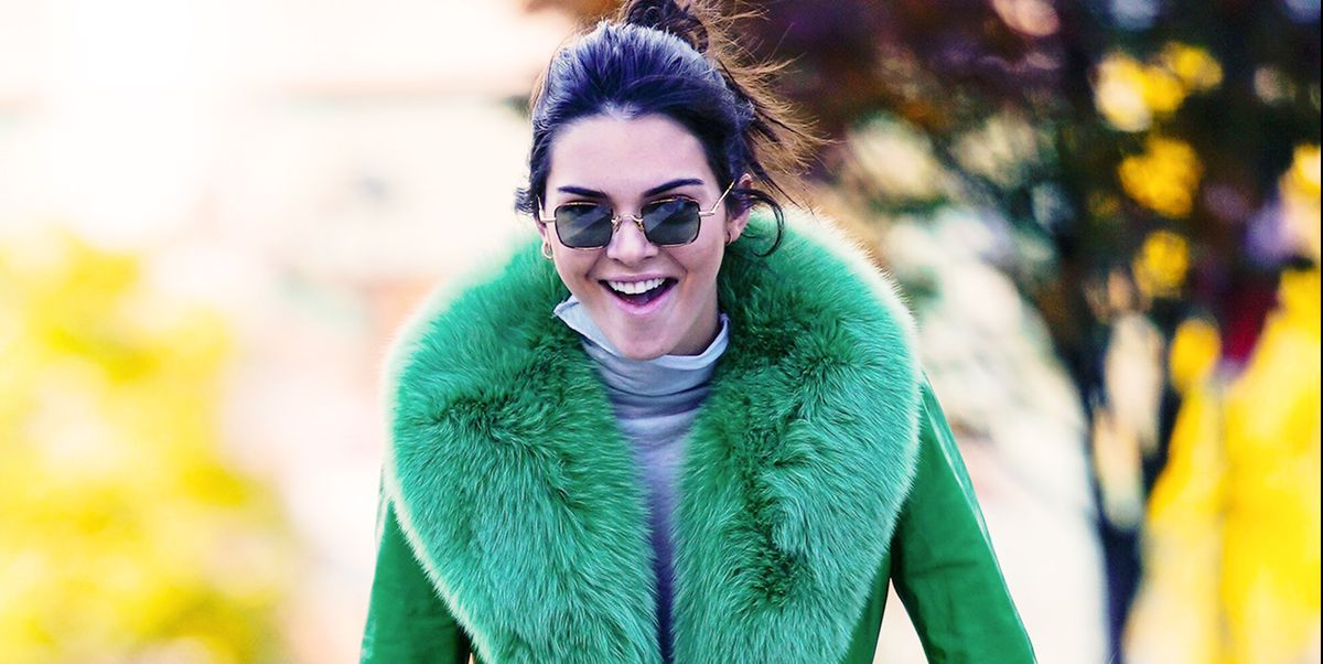 93471b07672 Kendall Jenner Rides a Bike Around NYC in a Lime Green Fur Coat