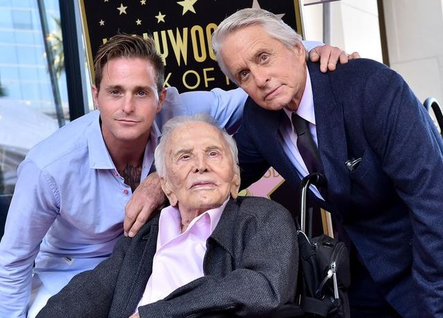 hollywood, ca   november 06  cameron douglas, kirk douglas and michael douglas attend the ceremony honoring michael douglas with star on the hollywood walk of fame on november 06, 2018 in hollywood, california  photo by axellebauer griffinfilmmagic