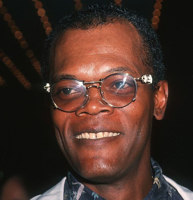 Samuel L. Jackson (head of hair) Here's Jackson in 1994, looking almost exactly the same as Jackson in any other decade. The man just does not age.