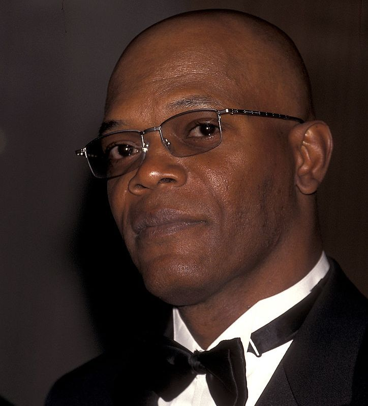 Samuel L. Jackson (head that's bare) Jackson only two years later.