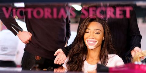 148487d5b4c A Backstage Look At The Angel's Make-Up Prep Ahead Of Tonight's Epic Victoria's  Secret Show