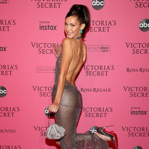 aa9f5cf752 Bella Hadid s Second Naked Dress at the VSFS After-Party Bared Even More  Than the First