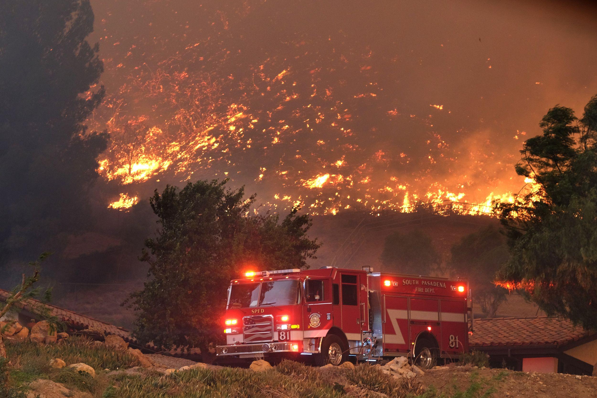 De allesvernietigende bosbrand die momenteel in Californië heerst