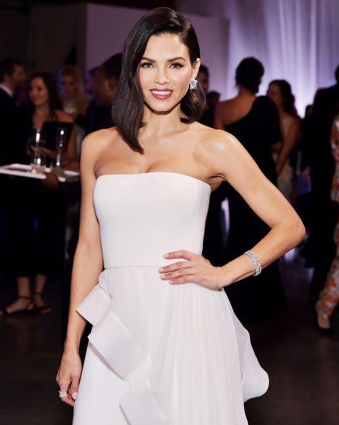 Fashion model, Dress, Clothing, Shoulder, Fashion, Beauty, Haute couture, Fashion show, Strapless dress, Event,
