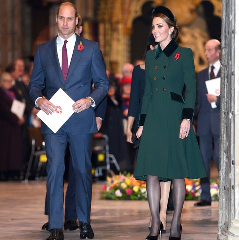 Kate Middleton Rewears Emerald Coat Dress To Westminster Abbey
