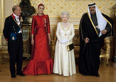卡達, 王室, 王妃, 英國, 伊利莎白二世, 謝赫莫札