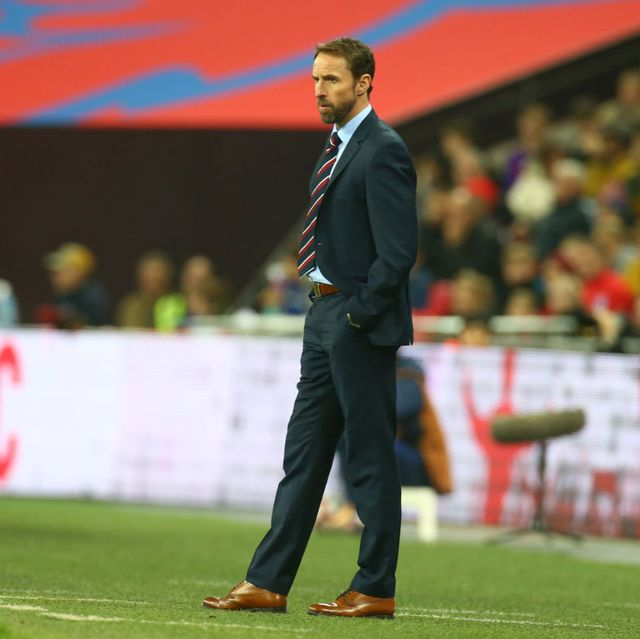 englands manager gareth southgate  during the friendly soccer match between england and usa at the wembley stadium in london, england, on 15 november 2018   photo by action foto sportnurphoto via getty images