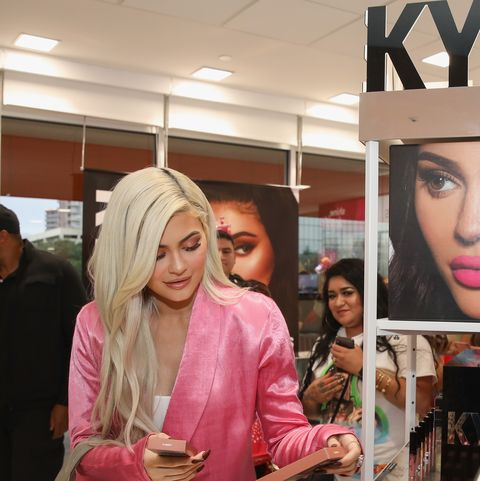 houston, tx   november 18  kylie jenner visits houston ulta beauty to promote the exclusive launch of kylie cosmetics with the beauty retailer, starting this month on november 18, 2018 in houston, texas  photo by rick kerngetty images for ulta beauty