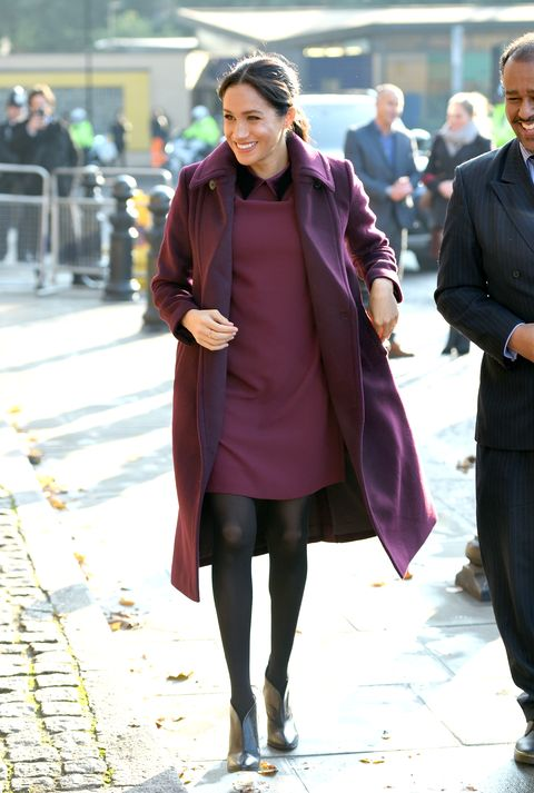 Street fashion, Photograph, Clothing, Fashion, Snapshot, Purple, Coat, Overcoat, Footwear, Outerwear,