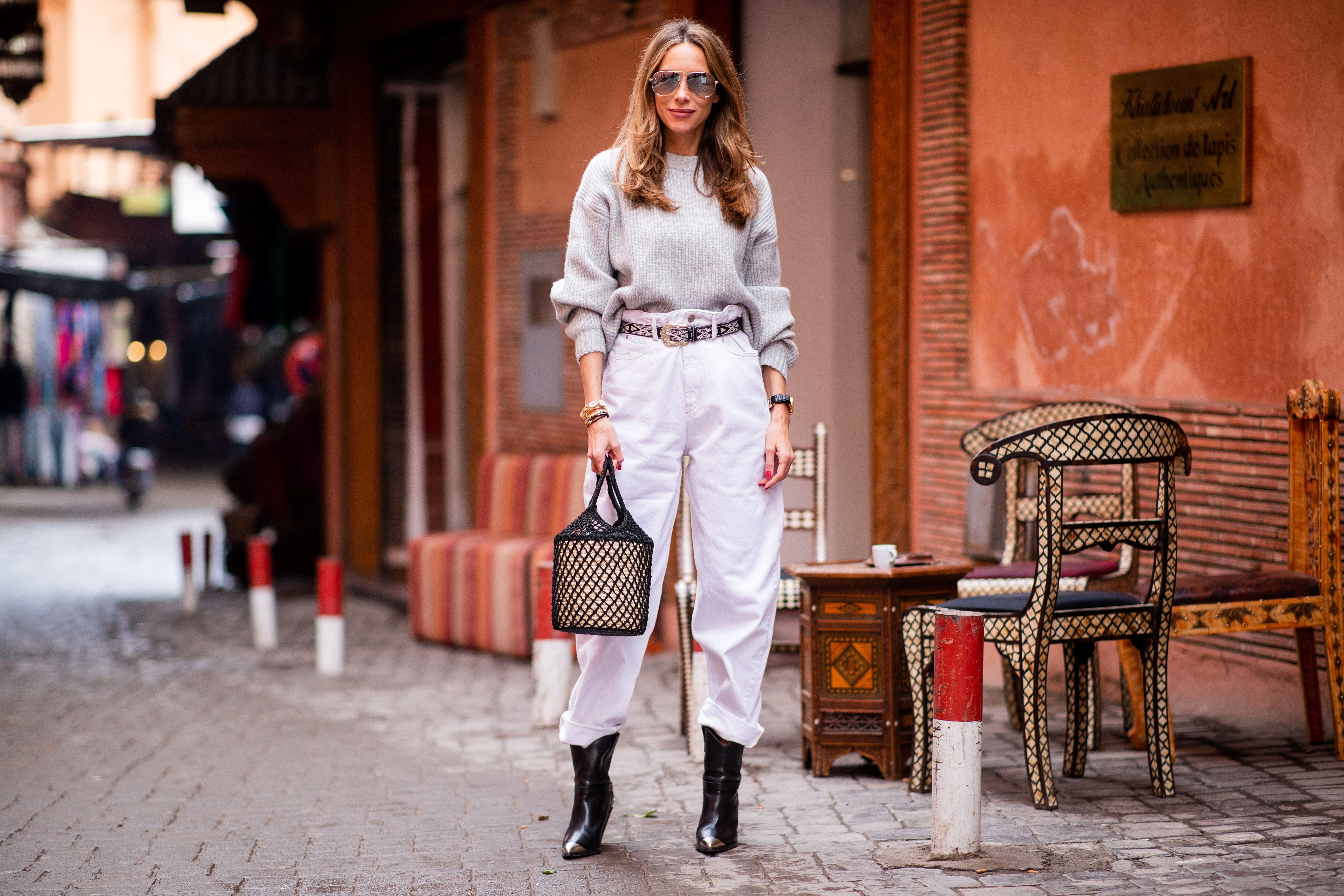 Pantalones blancos: manual de estilo para llevarlos en invierno