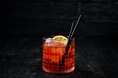 Drink, Campari, Old fashioned, Zombie, Alcoholic beverage, Negroni, Rum swizzle, Distilled beverage, Mai tai, Spritz,
