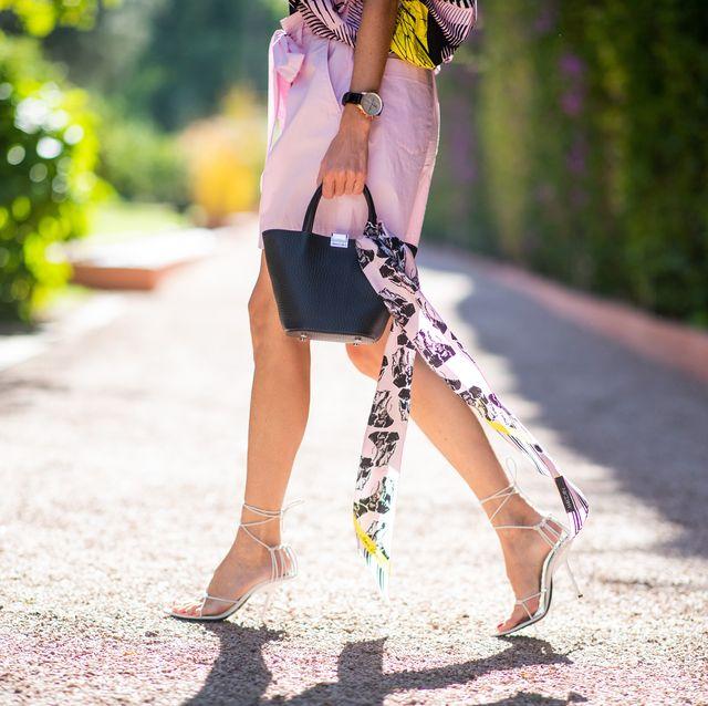 White, Street fashion, Clothing, Shoulder, Beauty, Fashion, Pink, Yellow, Footwear, Leg,