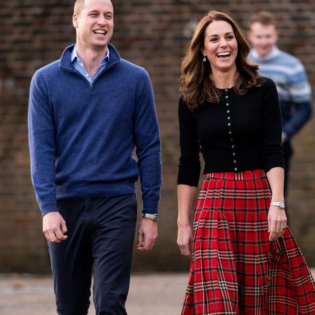 london, england   december 04 prince william, duke of cambridge and catherine, duchess of cambridge attend a christmas party for families and children of deployed personnel from raf coningsby and raf marham serving in cyprus, at kensington palace on december 4, 2018 in london, england photo by mark cuthbertuk press via getty images