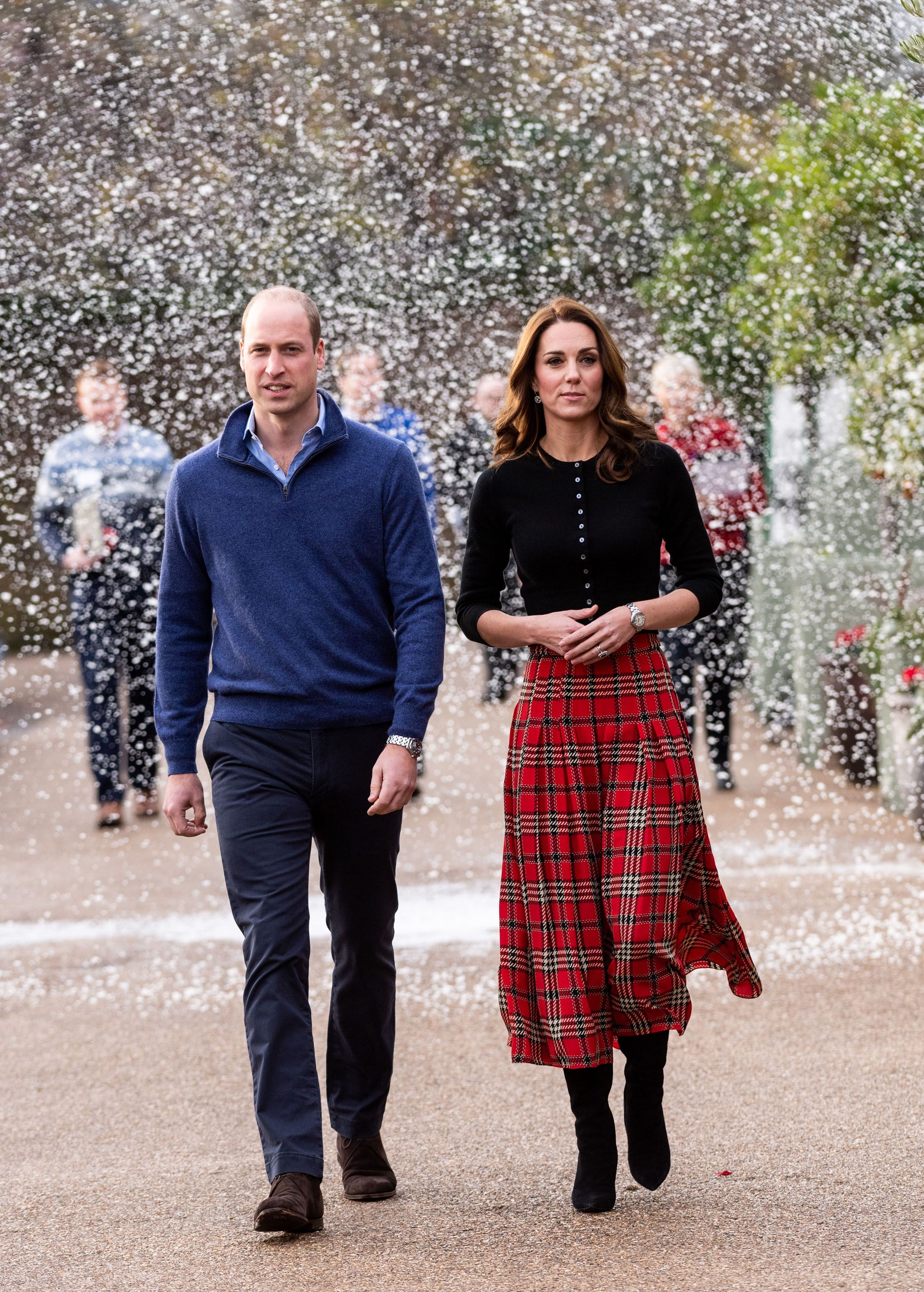 9655633248 Kate Middleton's Tartan Emilia Wickstead Skirt Looked Ever So Pretty When  It Started