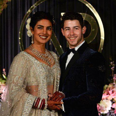 Priyanka Chopra and Nick Jonas at one of their wedding receptions