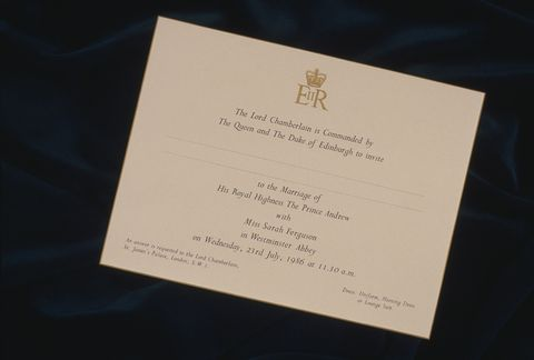 Comparing Royal Family Wedding Invitations Through The Years