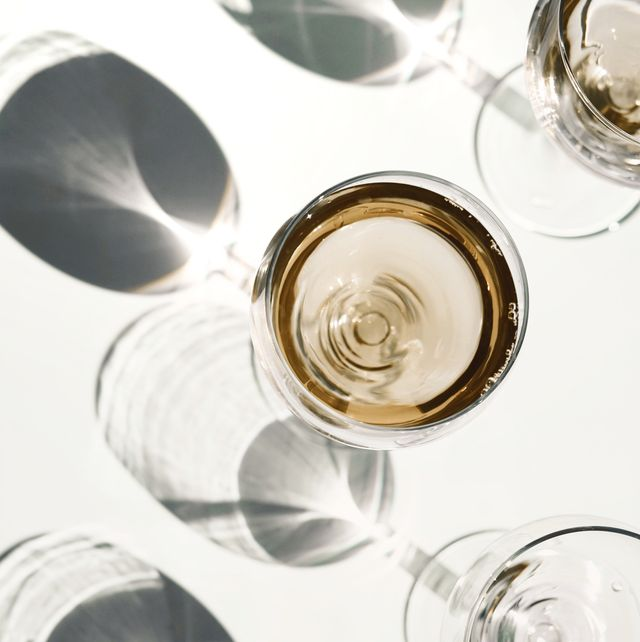 Directly Above Shot Of Wineglasses On Table