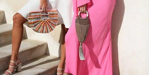 Fashion model, Clothing, Pink, Dress, Shoulder, Fashion, Fashion design, Formal wear, Gown, Leg,