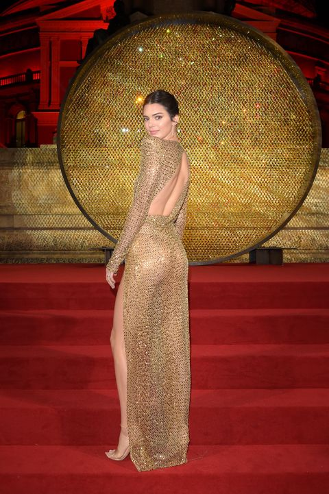Kendall Jenner Wore A Shimmery Naked Dress To The Fashion -3167