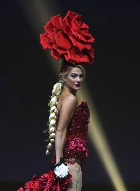 Red, Beauty, Fashion, Fashion model, Model, Dress, Photography, Haute couture, Fashion design, Plant,