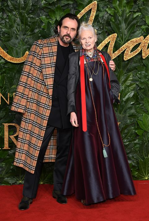 london, england   december 10  andreas kronthaler and vivienne westwood arrives at the fashion awards 2018 in partnership with swarovski at royal albert hall on december 10, 2018 in london, england  photo by jeff spicerbfcgetty images for bfc
