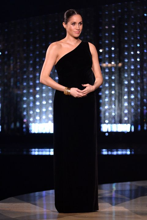 london, england   december 10  meghan, duchess of sussex on stage during the fashion awards 2018 in partnership with swarovski at royal albert hall on december 10, 2018 in london, england  photo by jeff spicerbfcgetty images