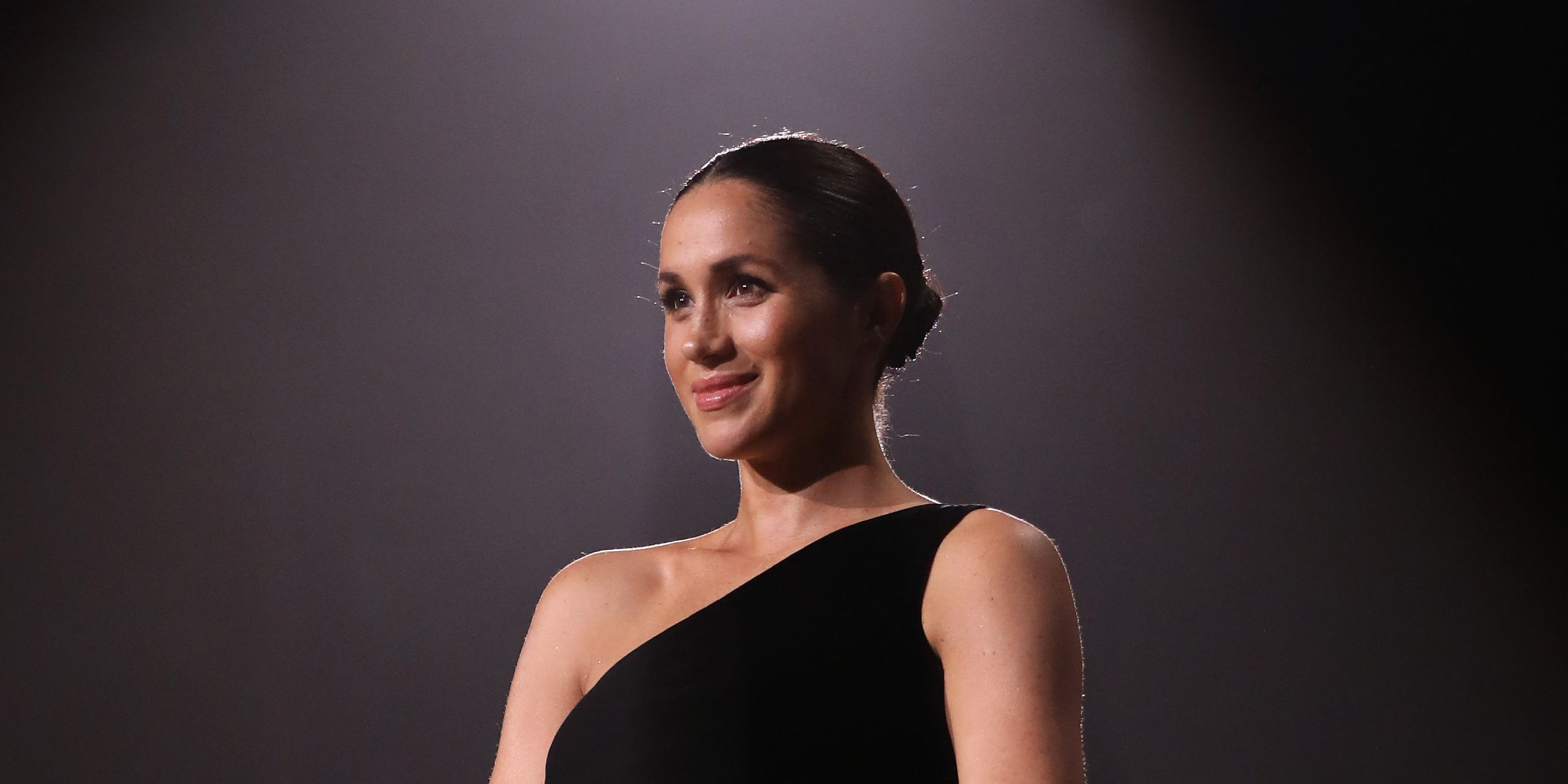 Meghan Markle in black Givenchy dress Fashion Awards 2018