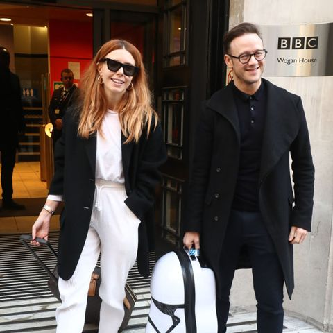 strictly come dancing finalists stacey dooley and kevin clifton leave bbc broadcasting house in london after appearing on the chris evans radio show photo by gareth fullerpa images via getty images