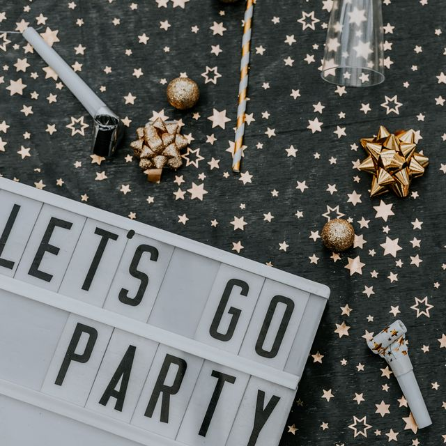 lets go party message in lightbox