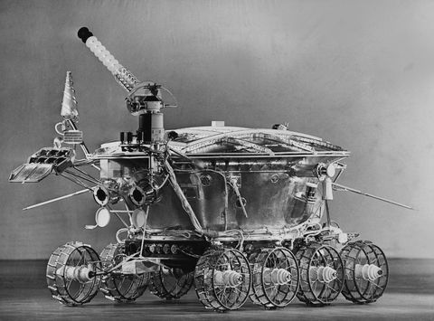 unspecified   january 01  lunokhod 1, the first remote control robot that arrived on an extraterestrial field on the seventies  photo by keystone francegamma keystone via getty images