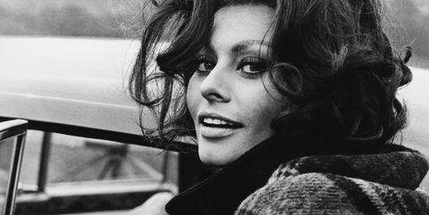 Sophia Loren In South Wales On August 1965