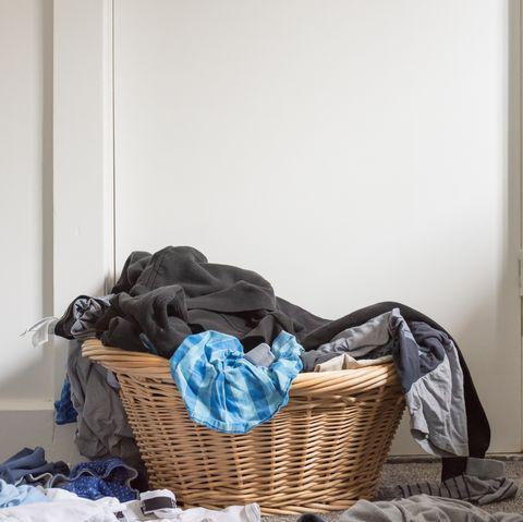 Messy laundry basket
