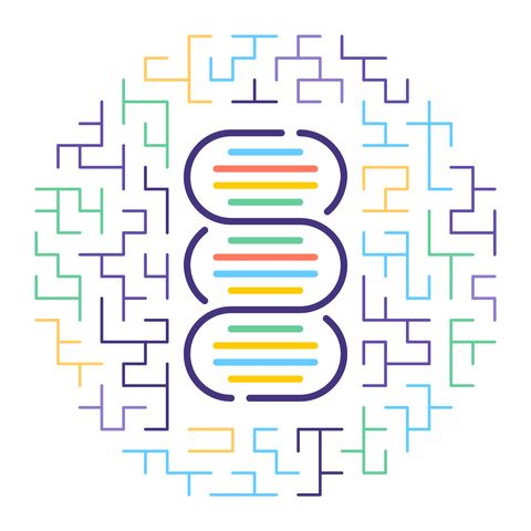 DNA Paternity Test Line Icon Illustration