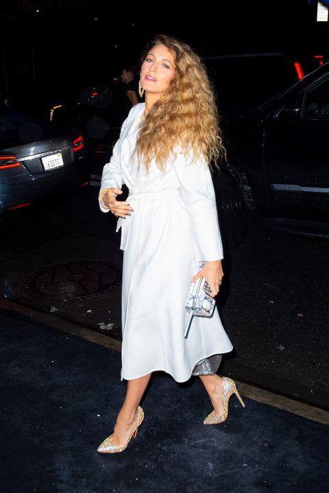 White, Clothing, Fashion, Leg, Footwear, Dress, Fur, Street fashion, Outerwear, Long hair,